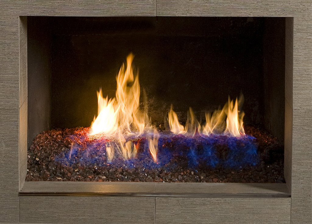 Cobalt Blue Dragon Glass 1//4 Reflective Fire Glass 25 lb