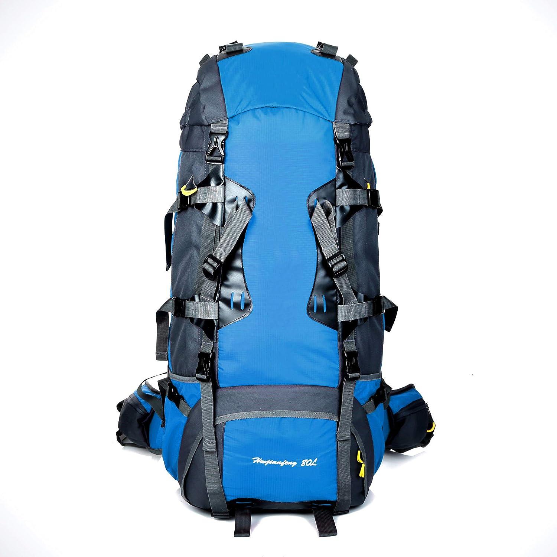 E  KYX-GAOMOUREN Sac à Dos De Grande Capacité 80L de plein air Alpinisme sac Système De Transport Professionnel Sac à Dos Extérieur