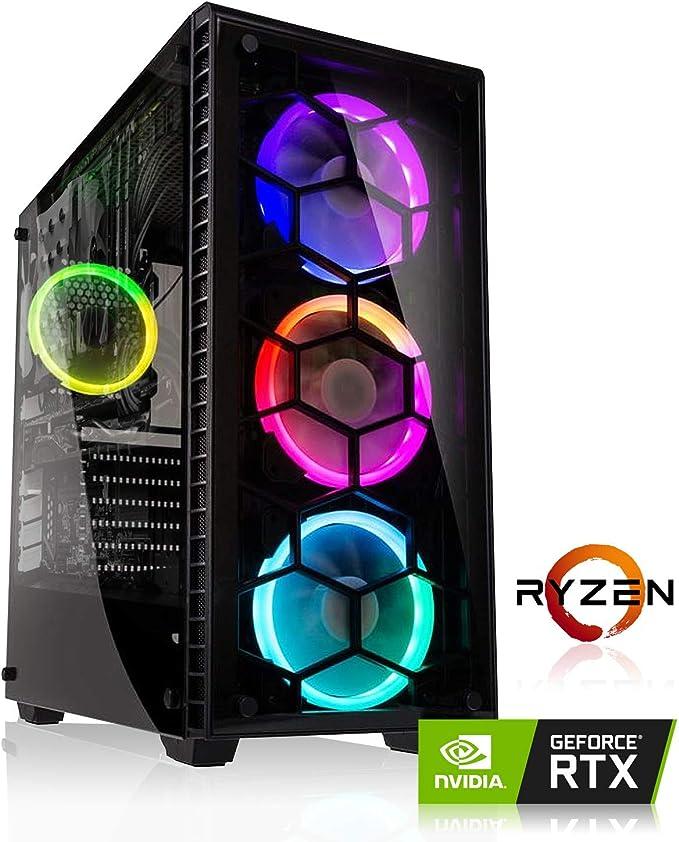 Memory PC Gamer AMD Ryzen 5 2600X 6X 4,2 GHz, 16 Go DDR4 RAM 3000 MHz, MSI B450 StoreMI, 480 Go SSD + 2000 Go HDD, NVIDIA GeForce GTX 1060 6GB 4K