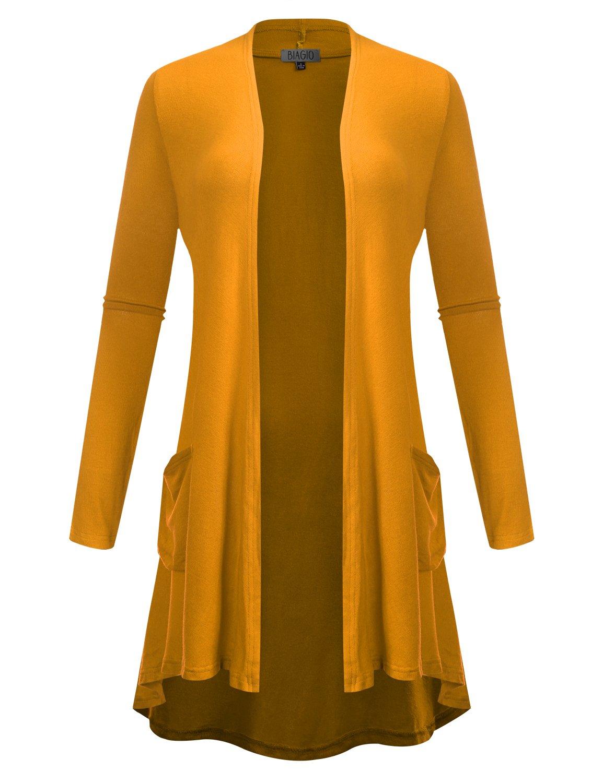 Mua Women's Open Front Lightweight Classic Long Sleeve Front
