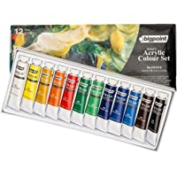 Artist's Acrylic Paint Set, Akrilik Boya Seti 12ml Tüp x 12 Renk