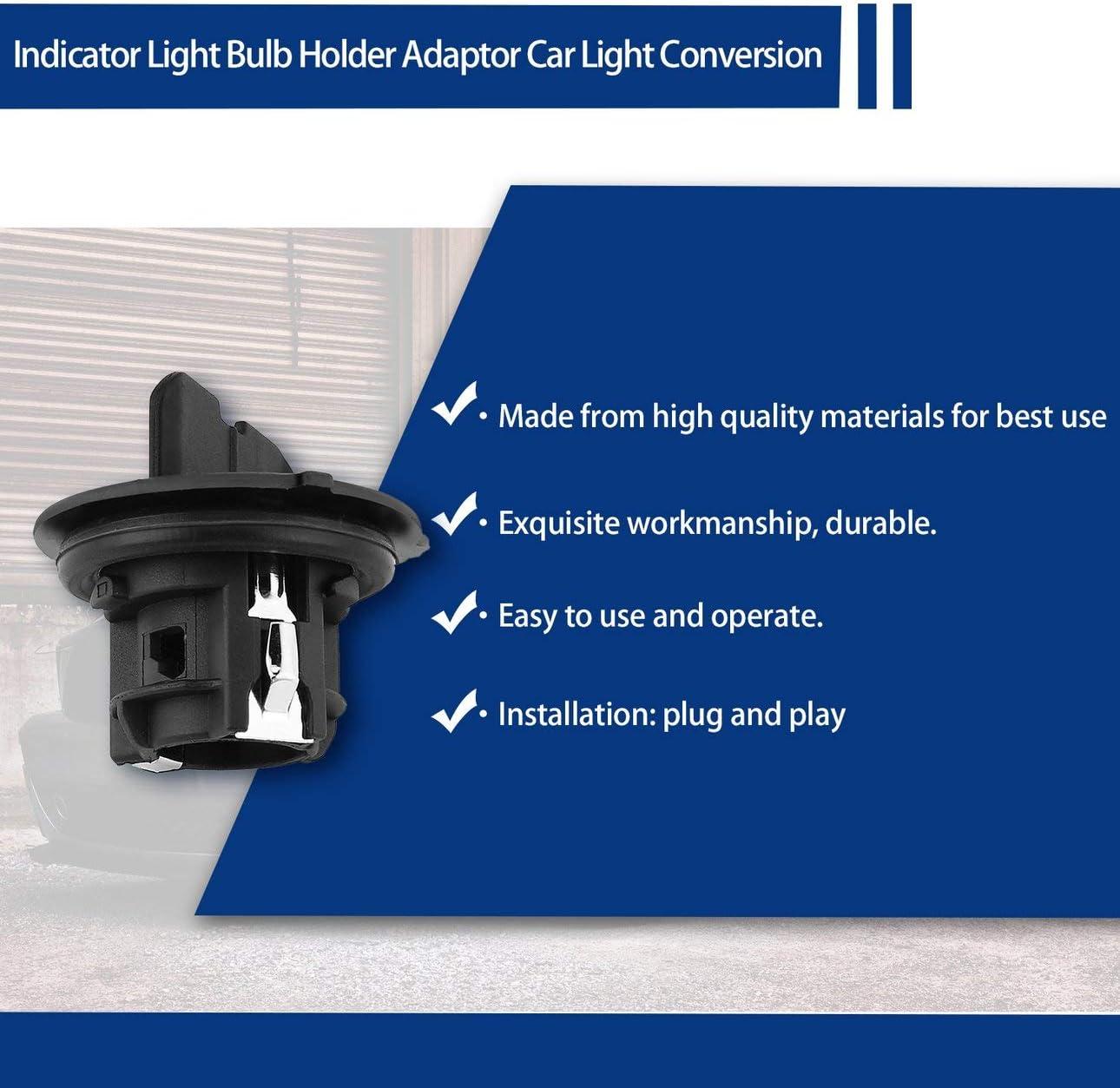 307 807 407 Ballylelly Auto Blinker Lampenfassung Adapter Auto Licht Umwandlung konvertieren Basis Fit f/ür Peugeot 207
