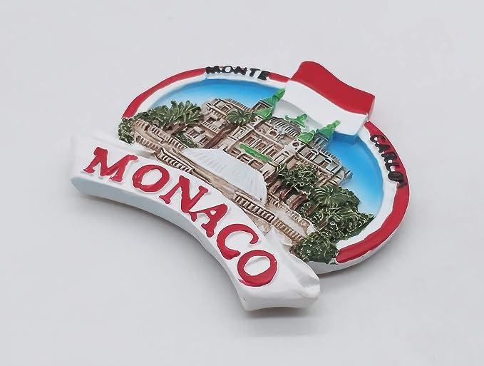 decoraci/ón de Cocina Im/án 3D para Nevera im/án de colecci/ón M/ónaco Recuerdo de Viaje decoraci/ón del hogar MUYU Magnet Monte Carlo Monaco