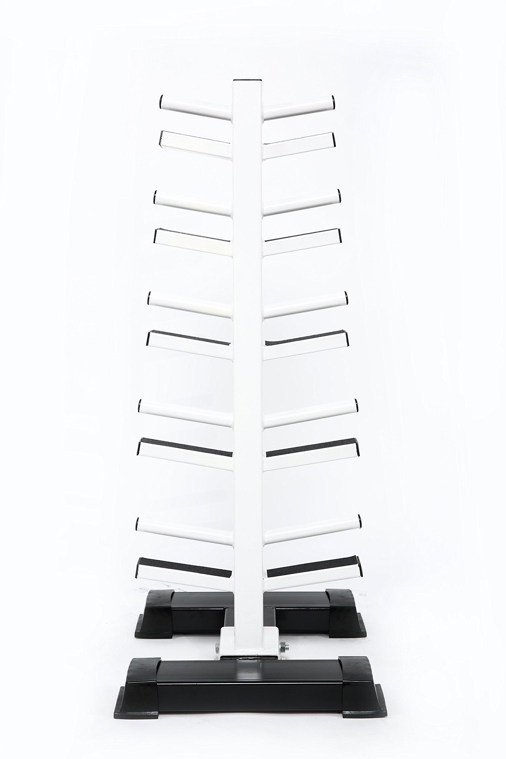 Neoprene Dumbbell Set- 10 Pairs w/ White Rack
