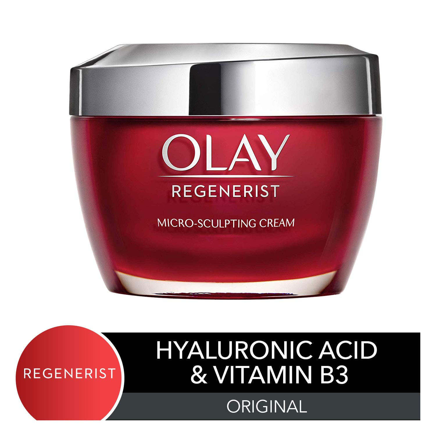 Olay Face Moisturizer with Collagen Peptides by Olay Regenerist, Micro-Sculpting Cream, 1.7 oz by Olay