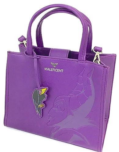 c72193be41a Amazon.com  Loungefly x Disney Sleeping Beauty Maleficent Debossed  Crossbody Bag with Crow Charm (One Size