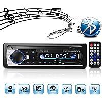 Autoradio mit Bluetooth und USB, 4X60W Auto Radio 1 Din, MP3 USB/SD/AUX freisprecheinrichtung mit Fernbedienung