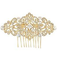 Ever Faith Art Deco Wave Bridal Hair Comb Clear Austrian Crystal Silver-Tone N04307-1