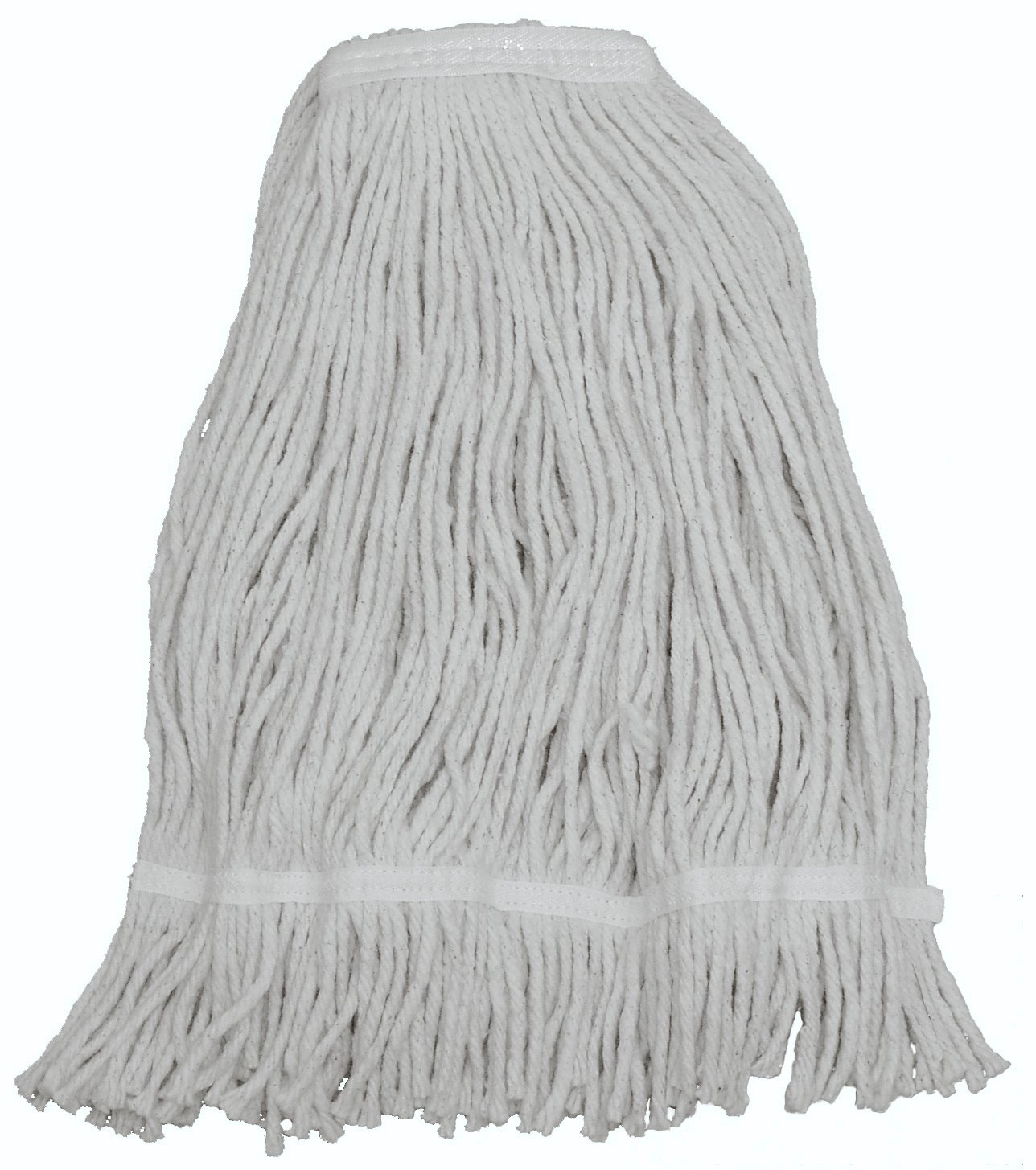 Zephyr 15016 Shineup 4-ply Cotton 16oz Wide Spread Cut End Wet Mop Head with Fantail (Pack of 12)