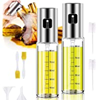 Olive Oil Sprayer, 2 Pack 100mlOil Spray for Cooking,(3.4- ounce Capacity)Oil Spray Bottle Oil Dispenser,Oil Spray…