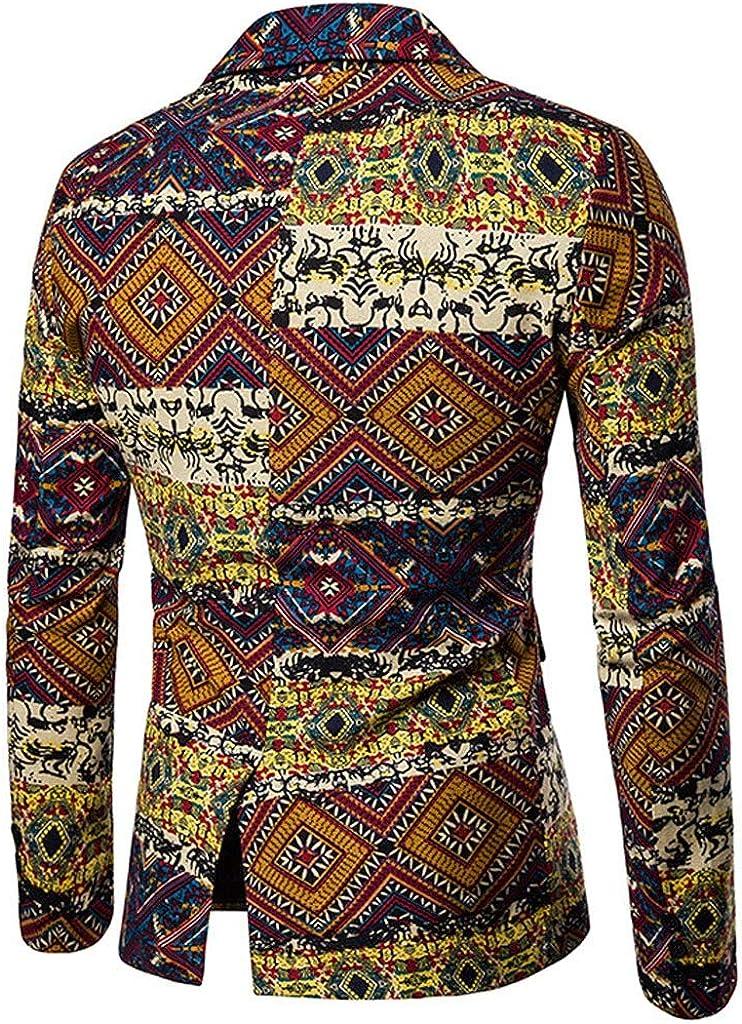Costume Homme 3 Pi/èces Ethnique Vintage Blazer Slim Fit Pantalon de Costume Gilet Retro Imprim/é Mariage El/égant Business Party Youngii