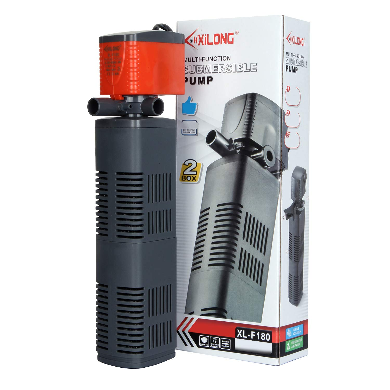 XiLONG Aquarium Internal Filter Pump for Fish Tank 3 in 1 Small Fish Water Filter Fishtank 1200 L/H