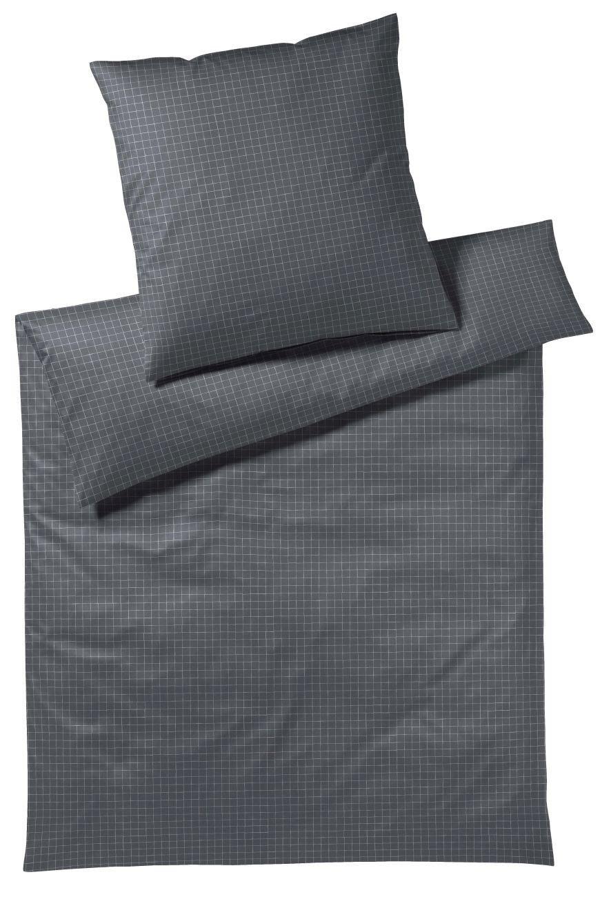 Elegante Jersey Bettwäsche Dice Coal 155x220 cm + 80x80 cm