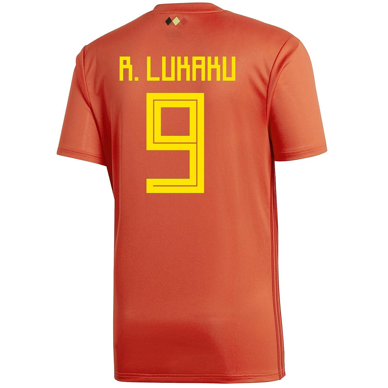 best website 86cbf f2a42 Amazon.com: adidas R. LUKAKU #9 Belgium Home Youth Soccer ...
