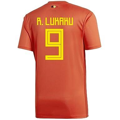 5fb82d77e adidas R. LUKAKU  9 Belgium Home Youth Soccer Jersey World Cup Russia 2018 (