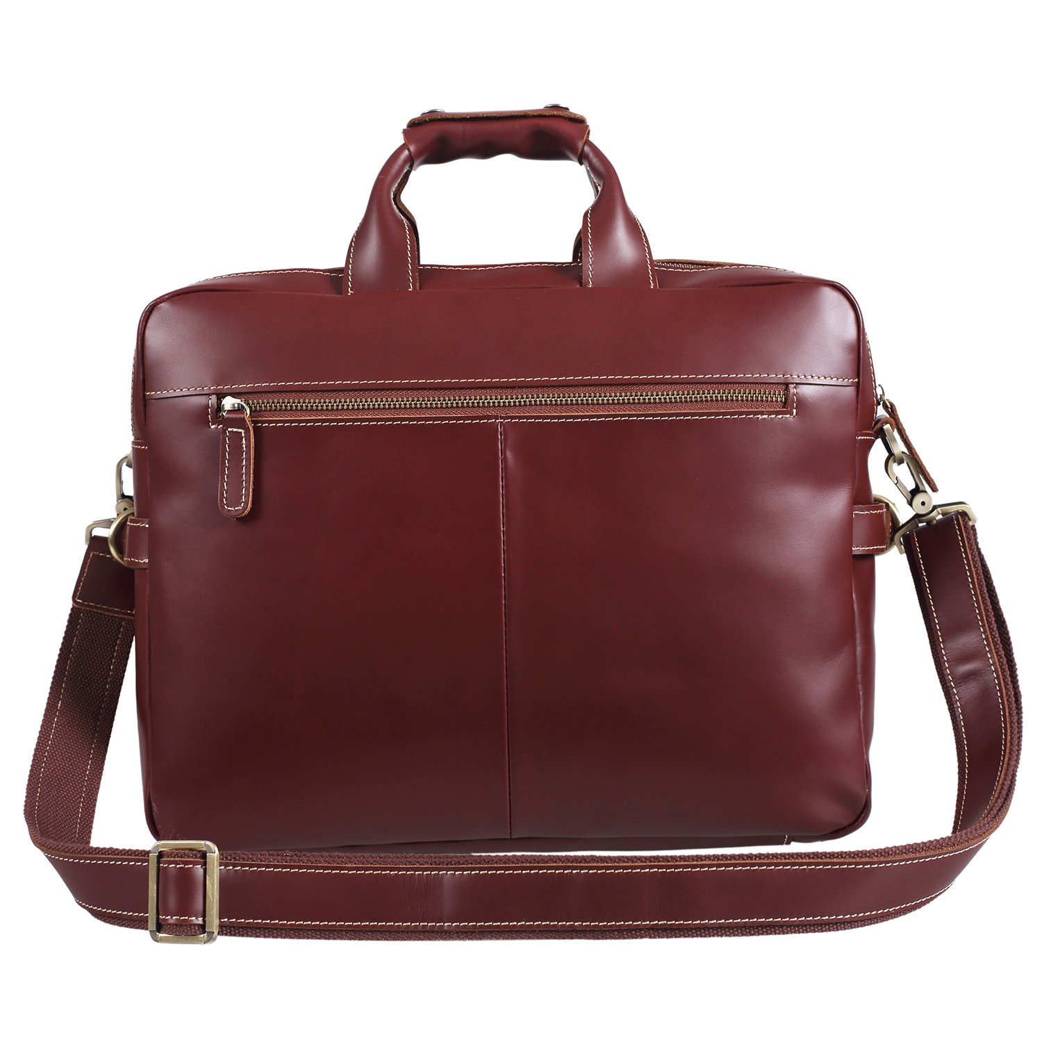 Polare Italian Leather Briefcase Should Bag Attache Fit 15.6inch Laptop by Polare (Image #4)