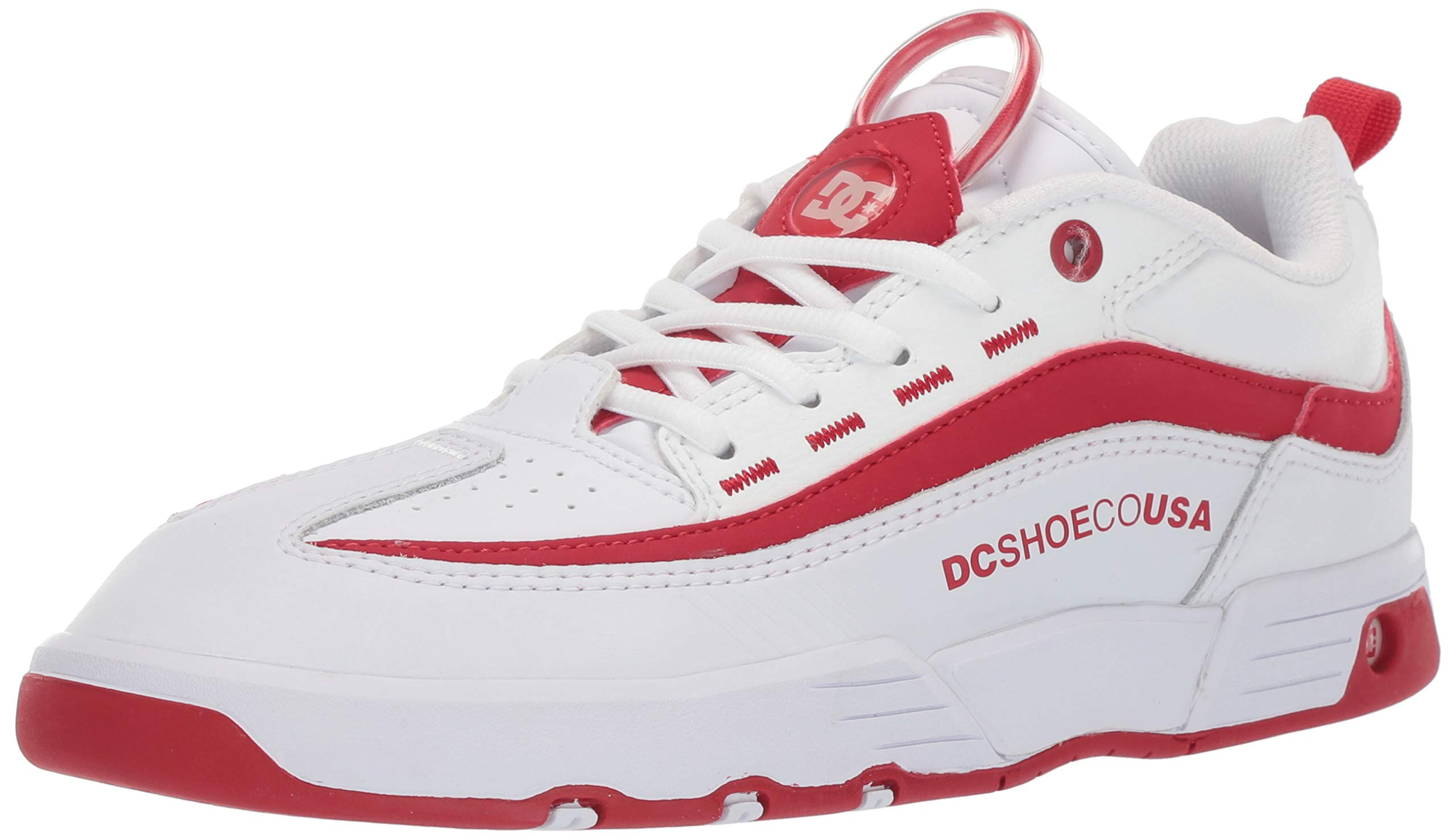 DC Women's Legacy 98 Slim Skate Shoe White/True red, 11 M US by DC