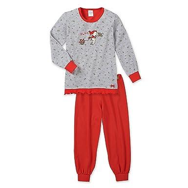 26eea5ed43 SCHIESSER, Mädchen Schlafanzug lang, Pyjama, NICI 'Rotkäppchen', grau mel.