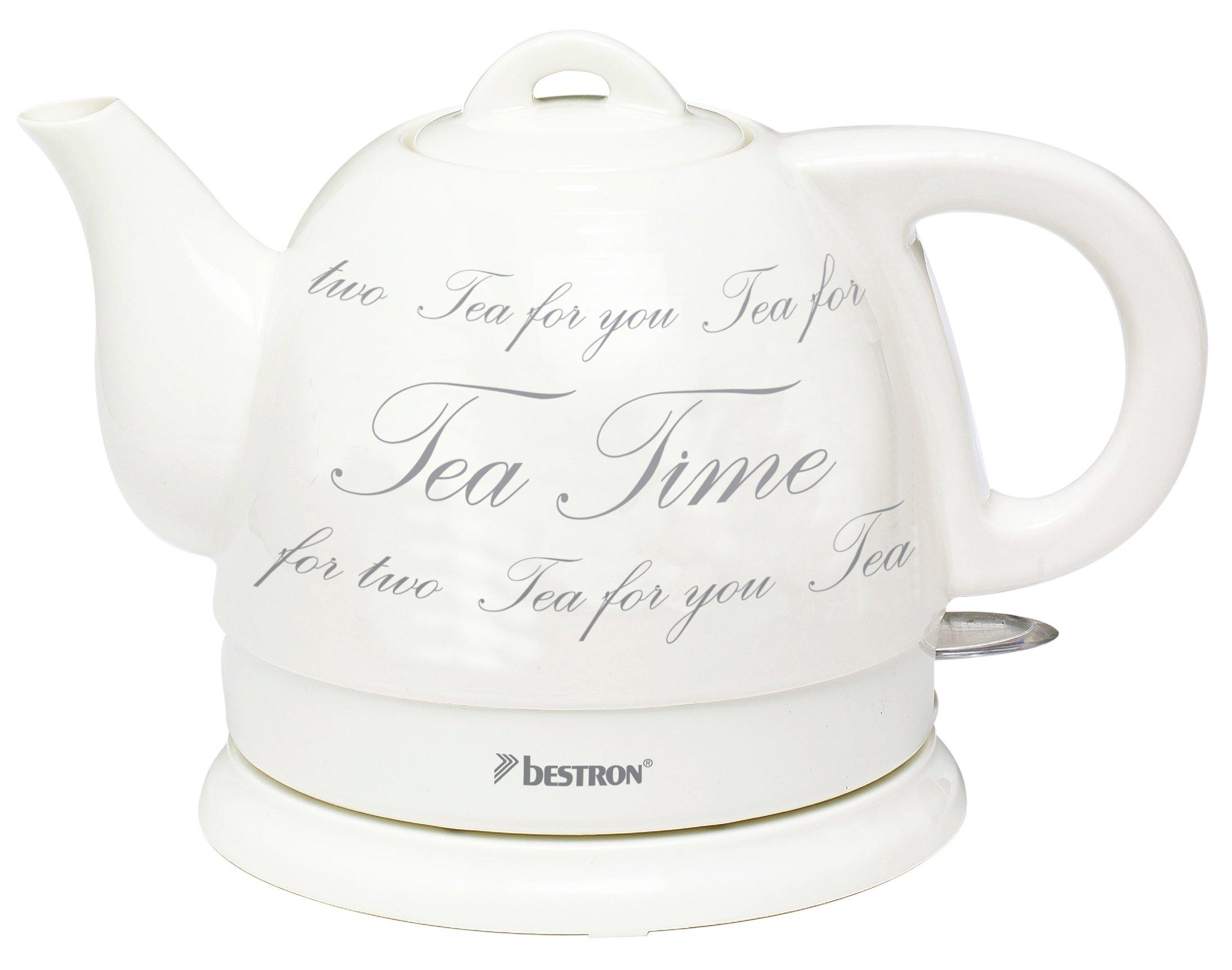 Bestron DTP800 Coffee & Tea Théière Électrique sans Fil 0,8 L Céramique Émaillée product image