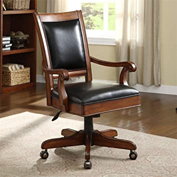 Executive Desk Chair In Burnished Cherry Finish