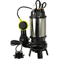 Bomba de Aguas Sucias - Bomba Sumergible con Trituradora y Flotador, Cuerpo en Níquel/Hierro Fundido - Bomba de…