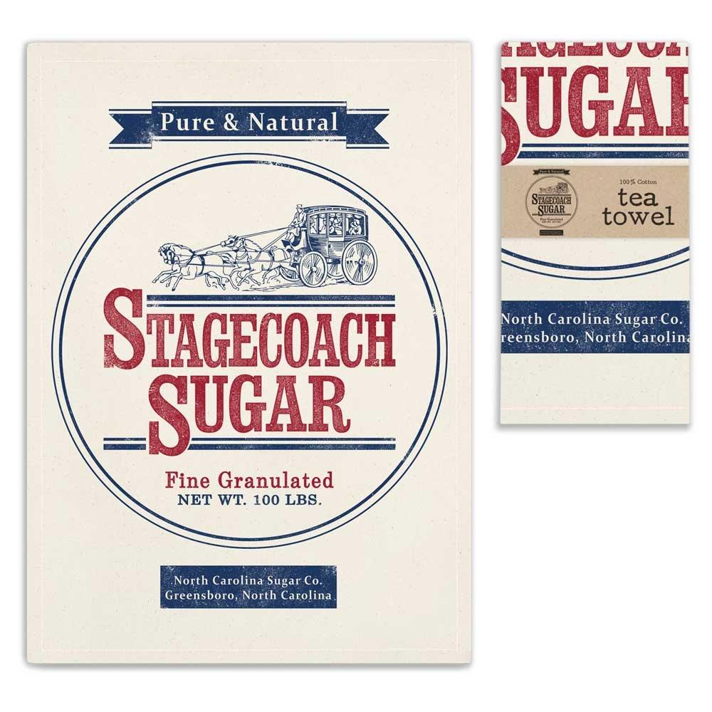 CTW Backroads Collection Feedsack Stagecoach Sugar Cotton Dishtowel Primitive Vintage Tea Towel,Multicolored