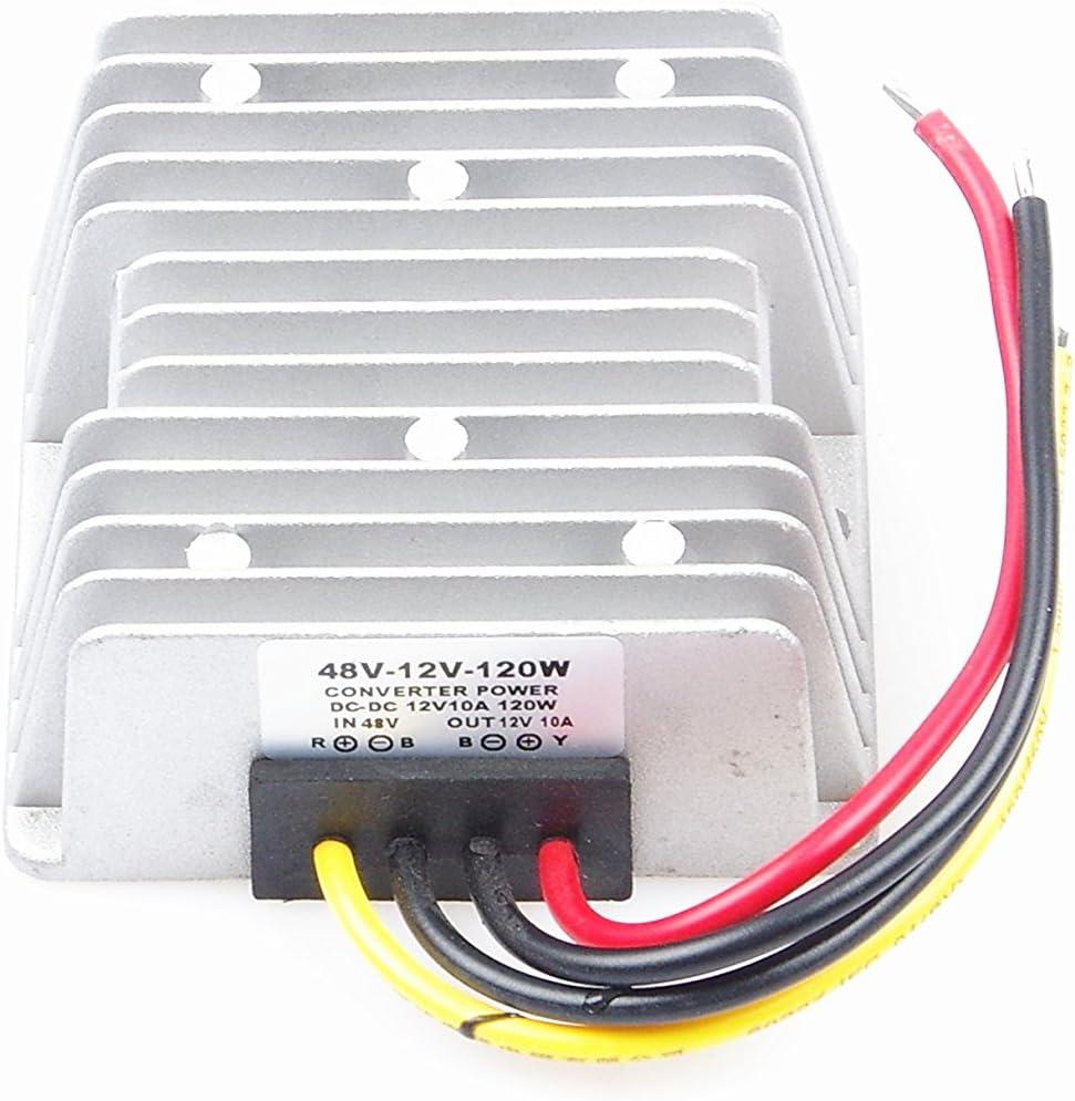 36-60v 60V to 12V 10A Step-Down to 12V 10A Power Module Waterproof Buck LED Strip 12V 10A 120W Regulator Step-Down Converter 36V 48V 60V