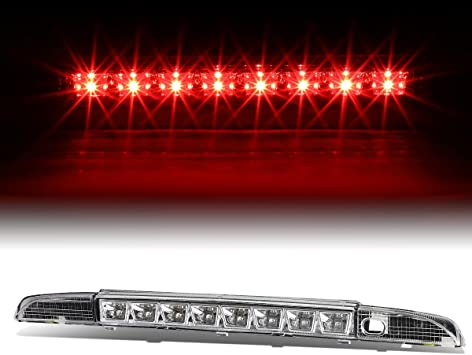 FOR 93-95 PATHFINDER WD21 RED HOUSING REAR 3RD//THIRD BRAKE//STOP FULL LED LIGHT