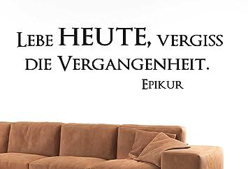 W758 94x28cm Pink Lebe Heute Vergiss Die Vergangenheit