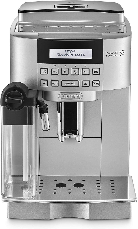 Delonghi Magnifica S Ecam 22.360.s - Cafetera superautomática, 15 bar de presión, lattecrema system, limpieza automática, pantalla lcd, color plata