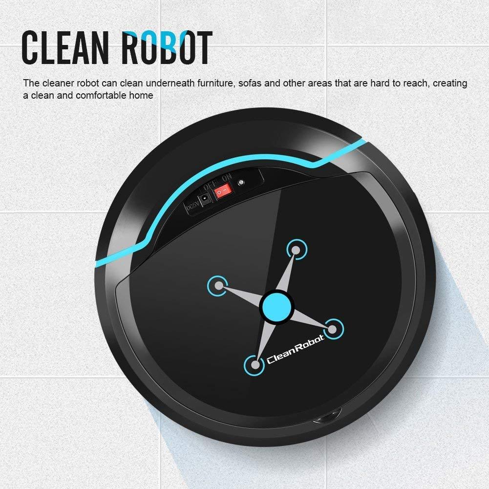 Limpieza Automática Robot Aspirador Fregona, Limpieza De Cabello De Mascotas Y Pelo De Humano Aspiradora Robotica Inteligente,Black: Amazon.es: Hogar