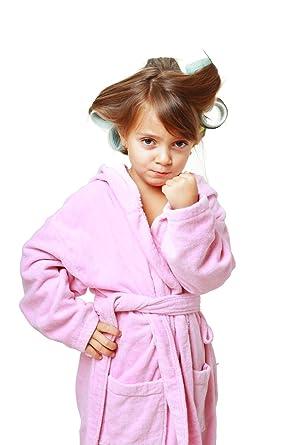 Amazon.com  Custom Embroidered Pink Girl s Bathrobe 73fd79475