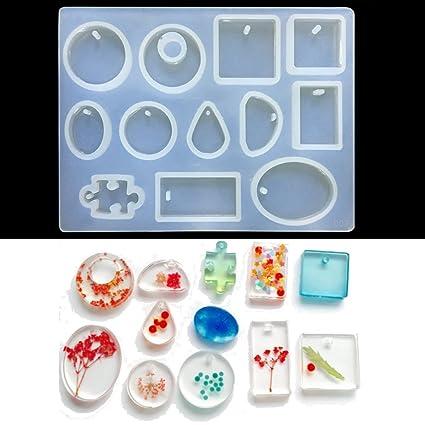 Moldes para resina de King Do Way, para joyas, manualidades y bricolaje, 12