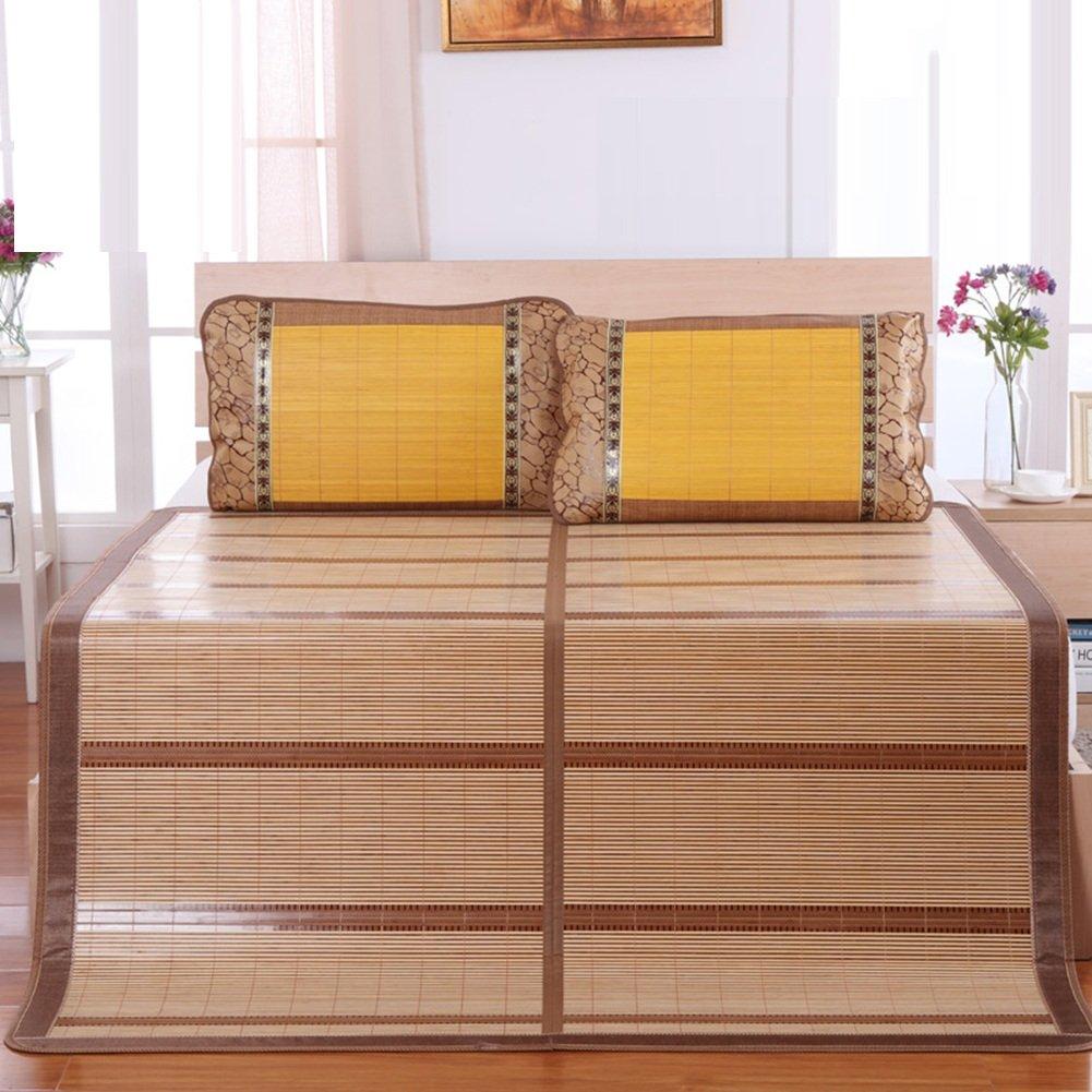 WENZHE Bambus Matratzen Sommer-Schlafmatten Strohmatte Teppiche Zusammenklappbar Zuhause Schlafzimmer Schlafsaal Multifunktion, 3 Stile, 6 Größen