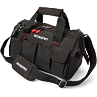 """WORKPRO Close Top Wide Mouth Tool Bag Storage Organizer Close Tote, 14"""""""