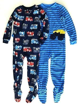 professionelles Design 100% authentisch suche nach original Carter's just one you Schlafanzug Fleece 104/110 Fleece 2-er Pack Einteiler  mit Füßen Pyjama Winter Nachtwäsche warm für Jungen US Size 5 t
