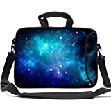 HAOCOO Stylish Art Ultraportable Waterproof Neoprene Laptop Bag Sleeve Case with Padded Handle, Adjustable Shoulder Strap & External Side Pocket, Fits Various Laptops