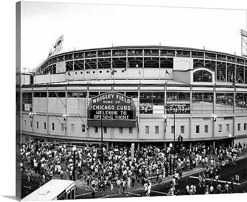 Tourists Outside a Baseball Stadium at Opening Night
