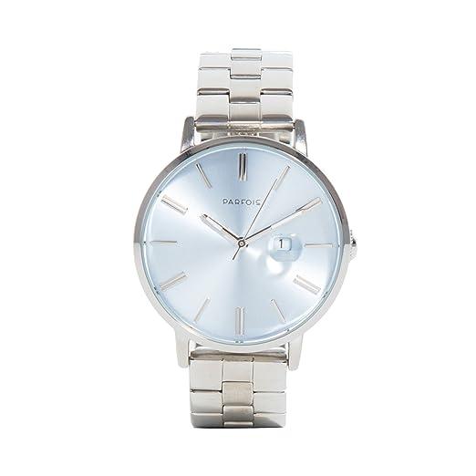 Parfois - Reloj Round - Mujeres - Tallas Única - Plateado: Amazon.es: Relojes