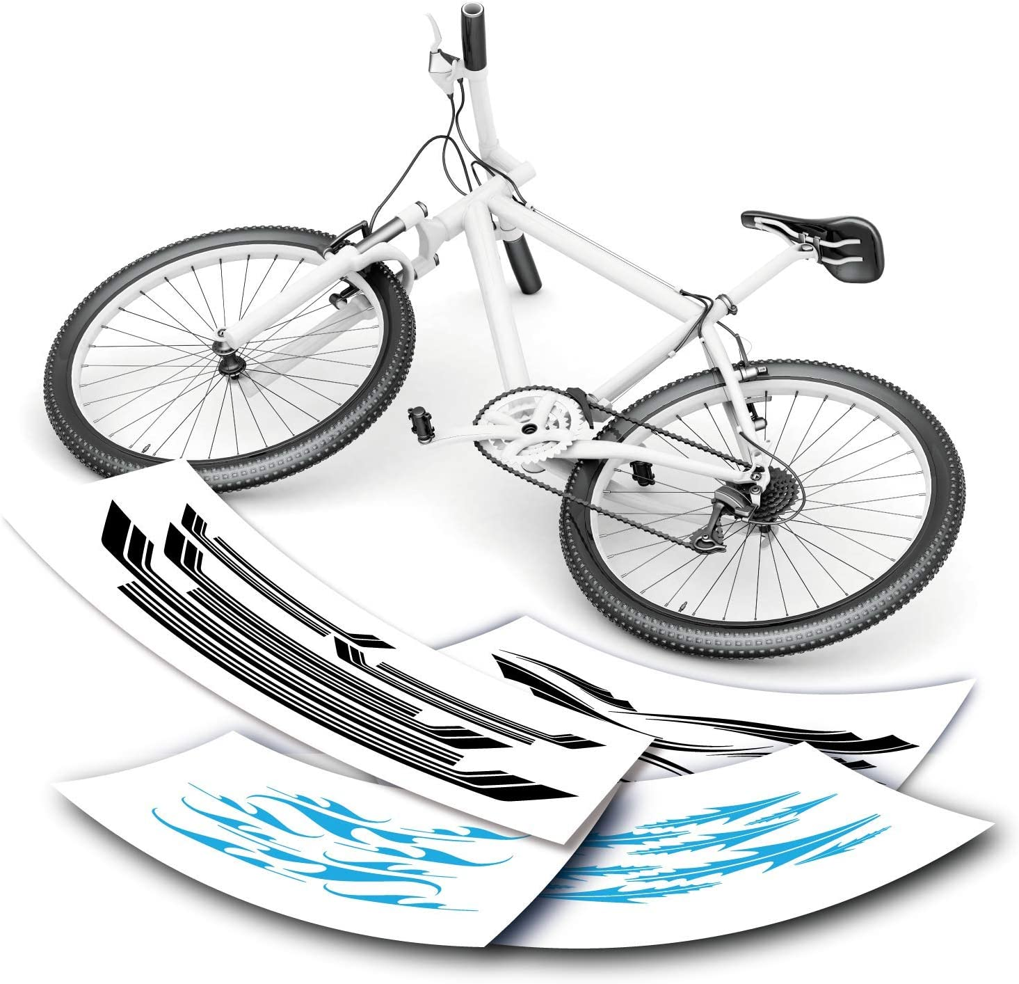 Set 2 Transfers Aufklebe Ortelli Fahrrad Abziehbilder