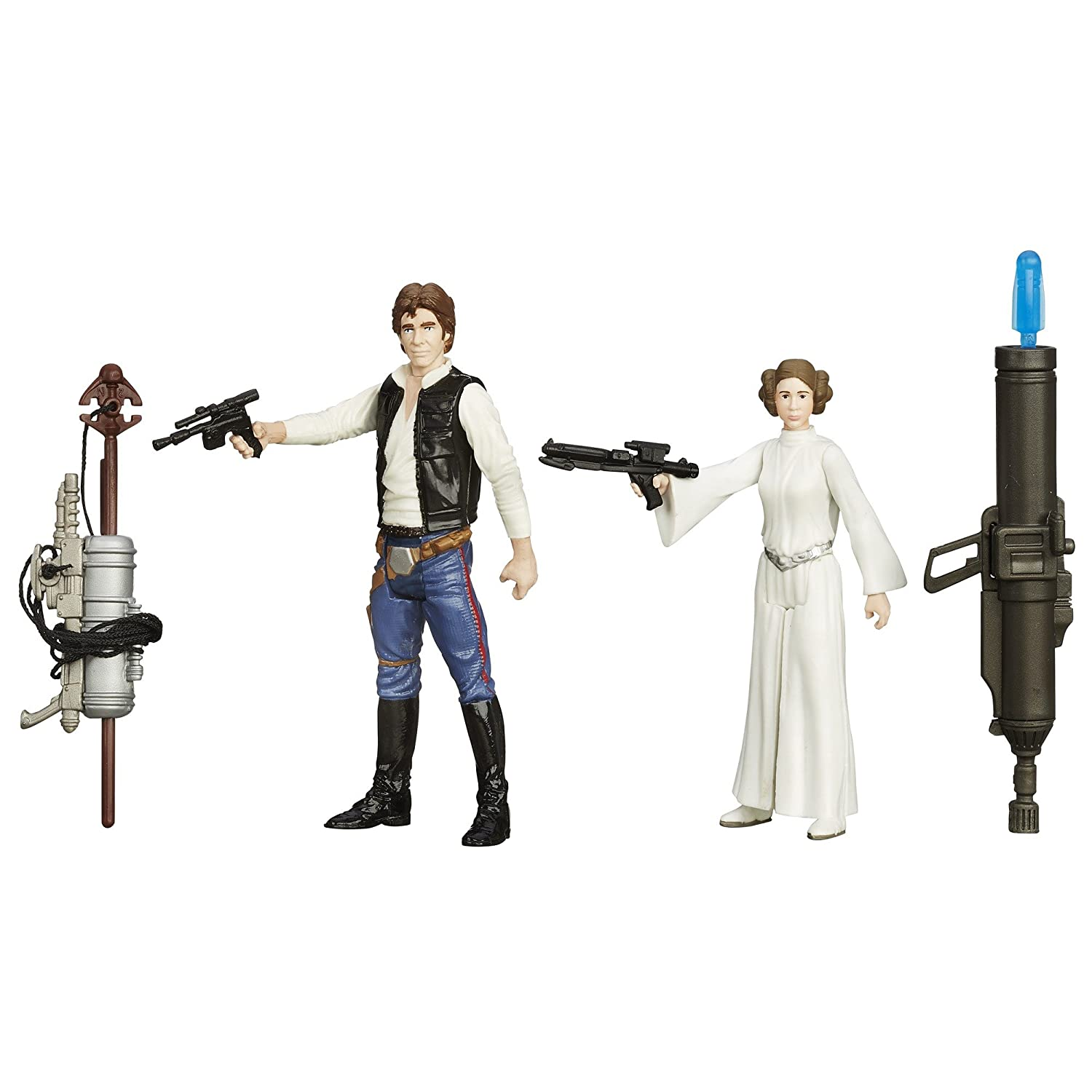 Star Wars A New Hope 3.75-inch Space Mission Han Solo And Princess Leia Figure