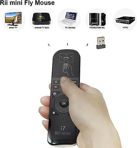 Rii ks07 Mando a Distancia ergonómico con mandos Multimedia Compatible con Windows – Mac OS X – Linux – Android – Smart TV – Playstation 3 y 4 – Xbox 360 y One – Raspberry Pi: Amazon.es: Informática