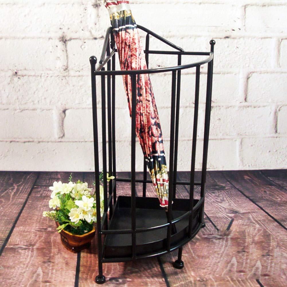 Portaombrelli ZAY Vassoio Antigoccia Rimovibile e 2 Ganci Supporto per Decorazioni per la Casa con Bastoncini di Bastoncini da Passeggio Color : Brown Uso Interno o Esterno