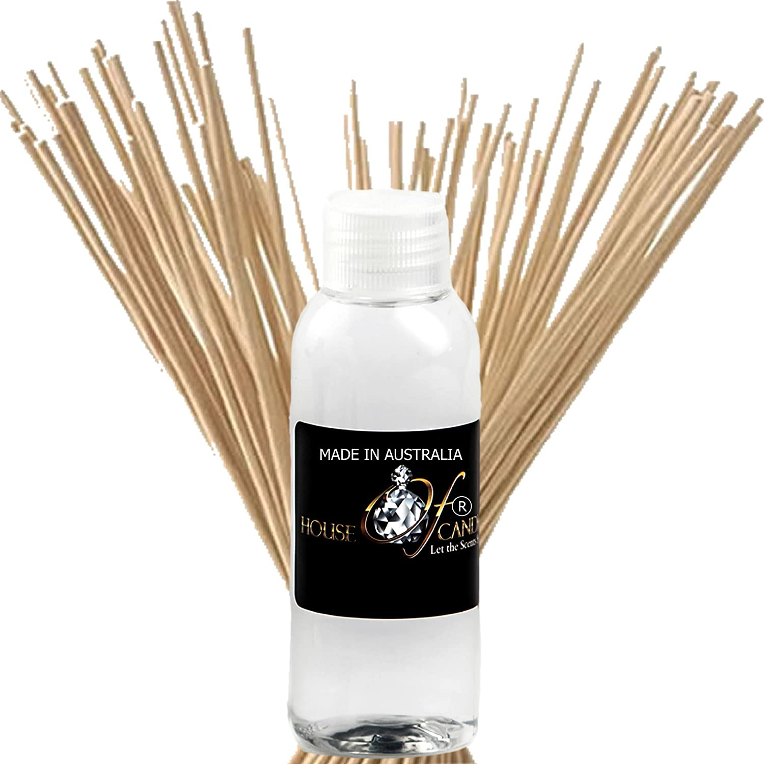 Black Rose & Oud Reed Diffuser Fragrance Oil Refill 50ml/1.7oz + Bonus 20xReeds House Of Candles