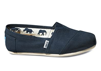 TOMS Womens Canvas Slip-On,Navy Canvas ...