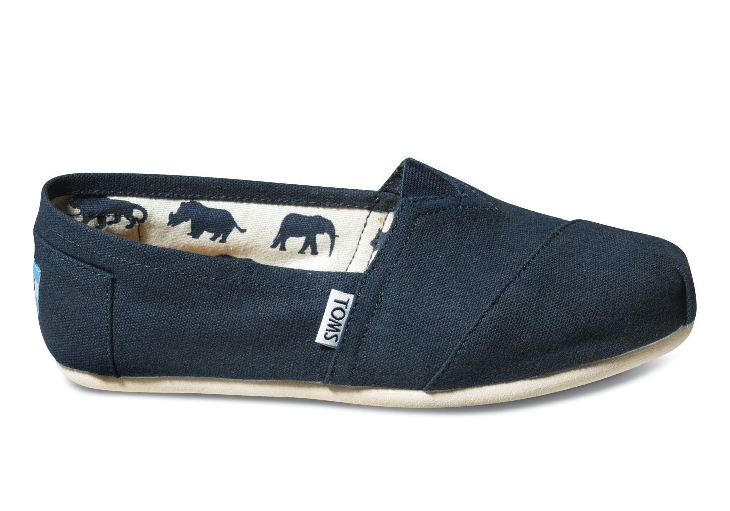 TOMS Women's Canvas Slip-On,Navy Canvas,7 M