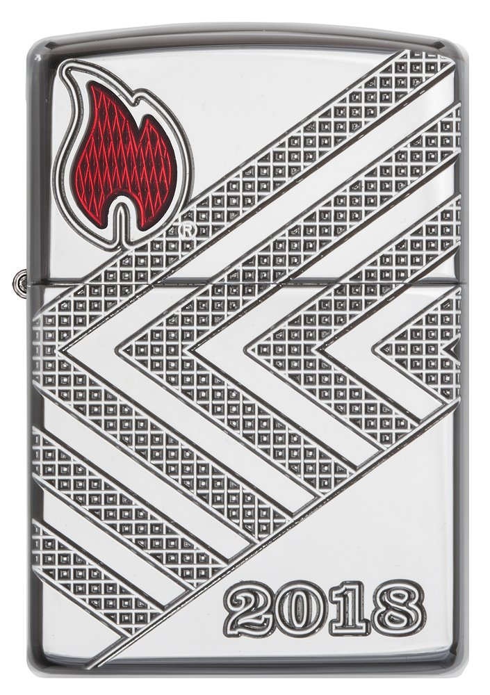 Zippo Annual Lighter 2018 Germany-Limited Edition 750 Pieces-Armor Case Chrome high Polished-Special Collection 2017 Sturmfeuerzeug, Silber, 6 x 4 x 2 cm