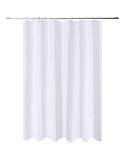 NY HOME Fabric Shower Curtain Liner White Extra Long 72 X 84 Inch Hotel Quality
