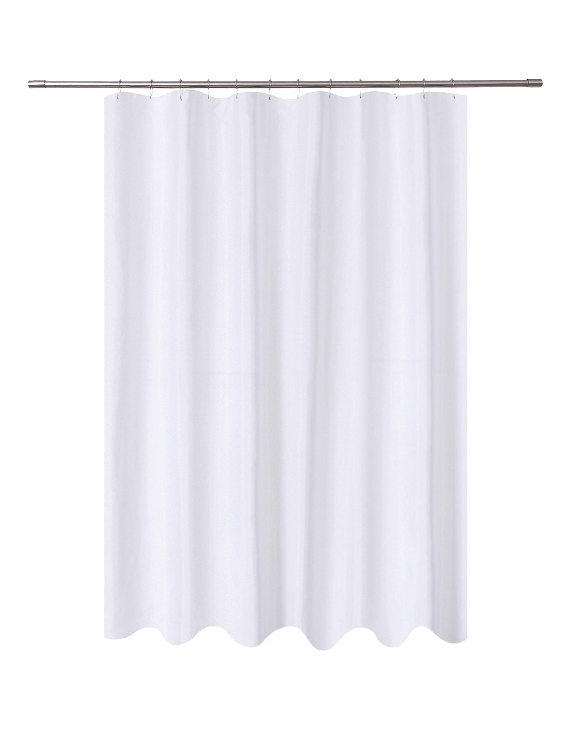 N&Y HOME Fabric Shower Curtain Liner White Extra Long 72 x 84 inch, Hotel Quality, Mildew Resistant, Washable, Water repellent, Spa Bathroom Curtains with Grommets
