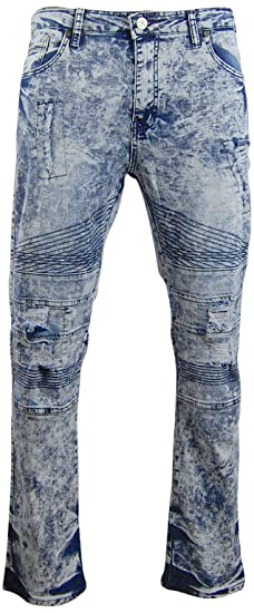 47da5f2d3e3 G-Net Ripped and Distressed Biker Jeans For Men  Destroyed Pants With Holes   Soft-Washed Stretch (38x32